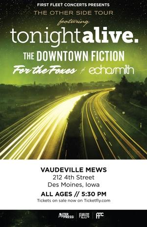 November 9, 2013 - Tonight Alive at Vaudeville Mews in Des